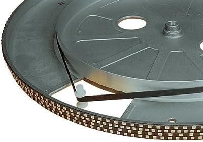 Tocadiscos Correa De Transmisión (185mm diámetro), Negro