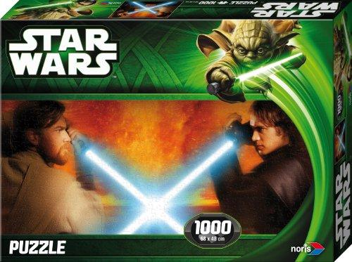 Noris Spiele 606031145 - Star Wars Obi Wan vs. Anakin Puzzle Episode 2 & 3, 1000 Teile