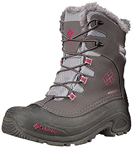 Columbia Unisex-Kinder Youth Bugaboot Plus III Omni-Heat, Shale/Deep Blush, 4.5, BY1321 (Columbia Kinder Schuhe)