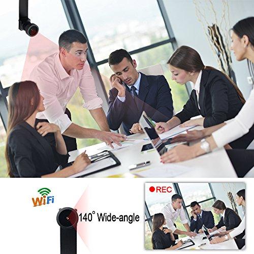 WIFI Mini Spy Cam Telecamera Nascosta Microcamere Spia Hidden Camera TANGMI 1080P HD Wireless Motion Detection DIY Videocamera 7/24 Ore di Lavoro Android iPhone IOS 140°Angolo di Vista Ampio - 2