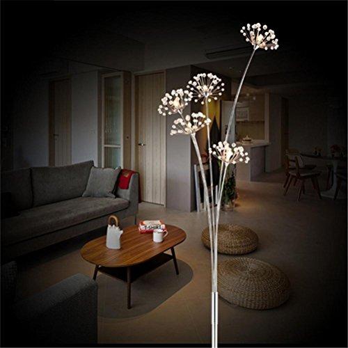Bargain WQRTT® Crystal Floor Lamp Modern Crystal Floor Light For Living Room Bedside LED Flower Stand Lamp Chrome finished Floor Lights , 5 head Reviews