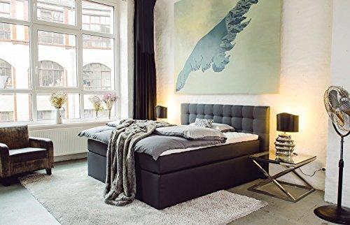 king boxspringbett 140x200 160x200 180x200 200x200 cm mit luxus 7 zonen. Black Bedroom Furniture Sets. Home Design Ideas