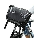 LISH Erhöhen Sie das Wasserdichte Mountainbike-Frontträgerpaket (Farbe : SCHWARZ)