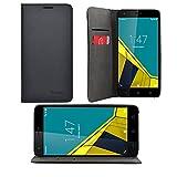 iprotect Vodafone Smart Ultra 6 Kunstleder Tasche im Bookstyle Schwarz Schutzhülle mit Integriertem Magnetverschluss