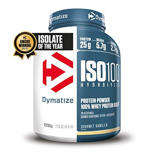 dymatize nutrition iso-100 gourmet vanilla 5 lbs