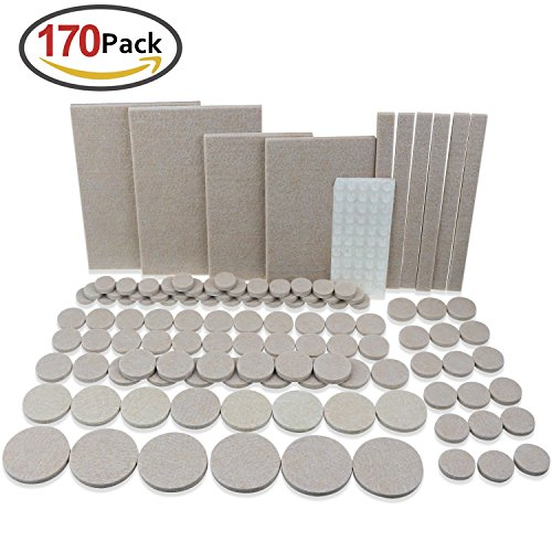 Buy 170pieces premium furniture felt pad self adhesive pads plus rubber bumper pad for for - Drawer bumper pads ...