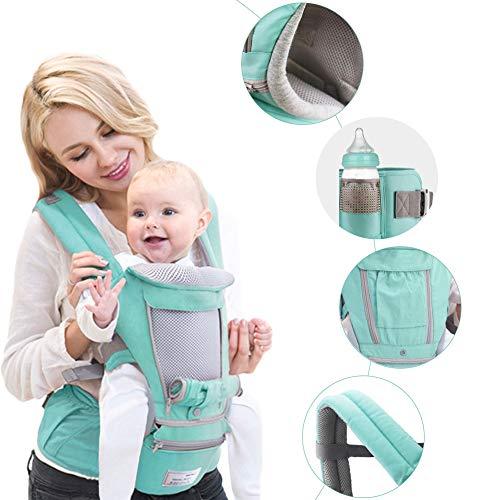 Opfury babytrage Neugeborene 3D Cool Air Mesh Baby-Tragetasche Kindertrage Ergonomische Babytrage verstellbar für Kinder- und Neugeborenen-Sitze (0-3 Jahre alt)