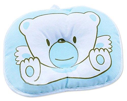 niceeshop(TM) Blau Bär Weiche Baumwoll Baby Kind Kleinkind Schlafen Kopfstütze Kissen Stellungs