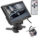 """BW 7""""TFT LCD retrovisor de coche reposacabezas Monitor PAL Color Monitor del coche para CCTV Monitor para cámara de marcha atrás de alta resolución de pantalla coche inversa Backup cámara de visión trasera"""
