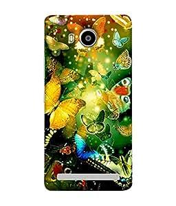 PrintVisa Designer Back Case Cover for Lenovo A7700 (Colourful Design Of Butterflies In Garden)
