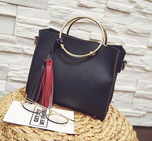 Damen Handtaschen Frauen Umhängetaschen Totes Mode Tote Taschen Hochwertige Trendy Handtaschen Black