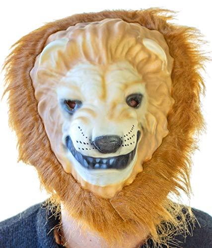 (Nick and Ben Maske Löwe   Maskierung für Kinder und Erwachsene   Perfekt für Fasching & Karneval   gelb orange   Einheitsgröße  )