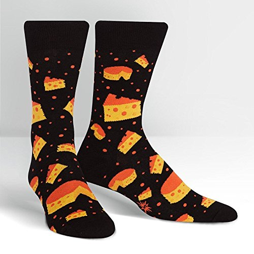 Sock it to me - Herren Socken String Cheese Theory - lustige Herren Socken stinkender Käse Käsesocken Gr.42-47 One Size, Größe:Gr. 42-47 - String-käse