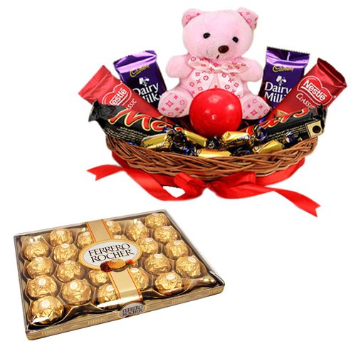 Chocolate Gift Basket With Ferrero Rocher