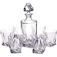 6 bicchieri whisky + decanter