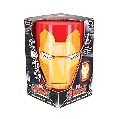 Zylindrische Mini-lampe (Marvel Mini Iron Man Licht mit Sound, mehrfarbig)