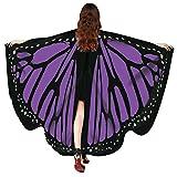 Fenverk GroßE SchmetterlingsflüGel Damen Schmetterling KostüM Erwachsene FlüGel Poncho ZubehöR...
