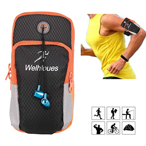 "1617 EU Multifuncional Deportes al aire libre corriendo brazalete brazo teléfono celular bolsa con titular clave, bolsa de la tarjeta para teléfonos inteligentes Hasta 5.8"""