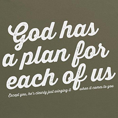 God Has A Plan T-Shirt, Damen Olivgrn
