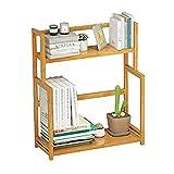 Scaffale da scaffale per scaffali con scaffali per scaffali per scaffali per scaffali da scrivania in legno a 2 piani per scaffali per ufficio e casa (41 * 20 * 41cm)