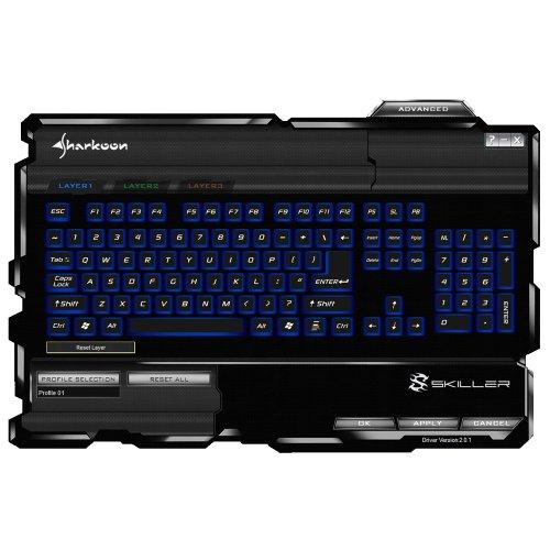 Sharkoon Skiller Gaming Tastatur schwarz - 5