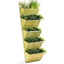 Macetero de 5 niveles, para colgar en la pared, para cultivar o exhibir plantas, 1025 x 300 x 180 cm, alta calidad