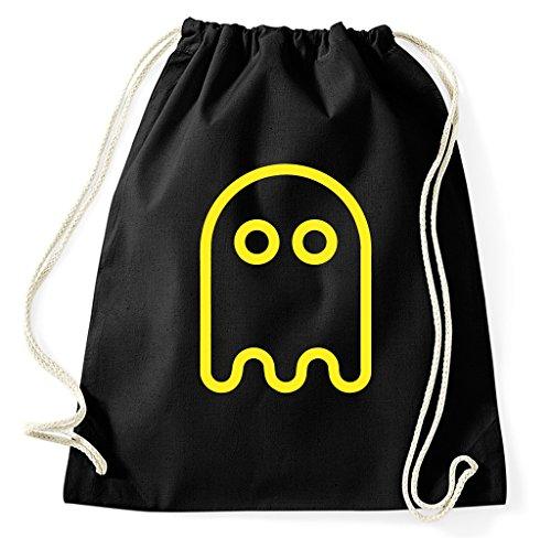Pac Man Ghost Cool Drawstring Gym Bag