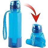 Semptec Urban Survival Technology Silikon Flasche: Faltbare Silikon-Trinkflasche, 650 ml, lebensmittelecht, BPA-frei (Silikontrinkflasche)