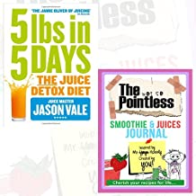 Jason Vale 5LBs in 5 Days Journal and Book Collection - The Juice Detox Diet, The not so Pointless Smoothie & Juices 2 Books Bundle