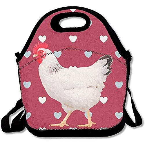 Graceful Walking Huhn Large & Thick Neopren Lunch-Taschen Isolierte Lunch-Taschen Kühltasche Warm Warm Tasche mit Schultergurt für Frauen Teenager Mädchen Kinder Erwachsene