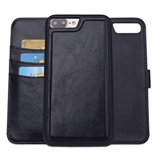 RFID Apple iPhone 7 Plus y iPhone 8 Plus Funda Cartera de PU Cubierta de Parachoque SHANSHUI Case Separable Multifucional