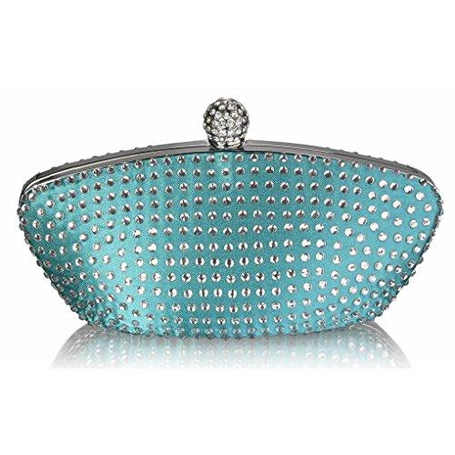 Crystal Abend Clutch Bag (LeahWard Frauen Sparkly Abend Clutch Bag Geldbörse für Prom Party CWE286 (Smaragd Kristallkupplung))