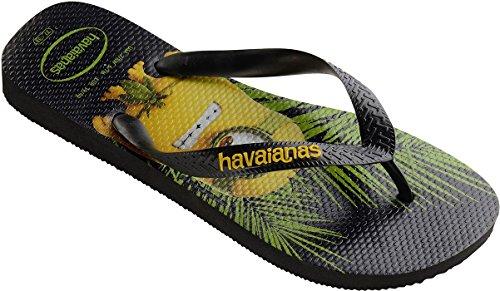 Havaianas Minions Black Yellow Womens Summer Beach Flip Flops-39