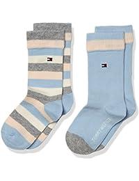 Tommy Hilfiger Mädchen Basic Stripe Socken, 2er Pack