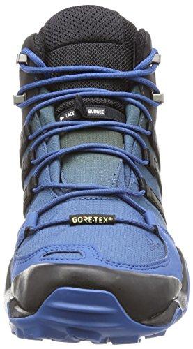 adidas Terrex Swift R Mid Gtx, Stivali da Escursionismo Uomo Blu (Azubas/Negbas/Blatiz)