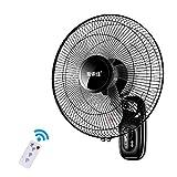FDY 16 Pouces Ventilateur Mural, Réglage à 3 Vitesses Oscillant Ventilateur, avec...