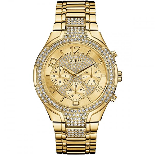 Guess (GVSS5) Women's Quartz Watch with Gold Dial Analogue Display and Gold Stainless Steel Bracelet W0628L2