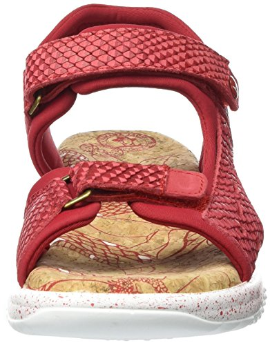 Panama Jack Nilo Snake, Sandales  Bout ouvert femme Rot (Red)