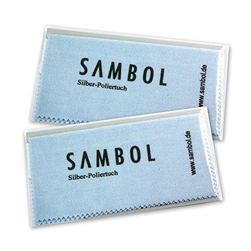 Sambol Schmuck Reinigungstuch Pflege Poliertuch ZAP1382 Pflegetuch Silberpflege