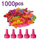 WEIZQ Wasserbomben Luftballons Latex Ballons Kit für Kinder Einschließlich 1000 Ballons, 5 Kleiner Trichter, Farbe zufällig
