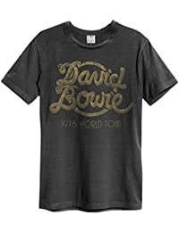 Amplified David Bowie - 1978 World Tour - Mens Charcoal T Shirt