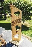 Holzschild Holz Deko Schild geflammt Herzlich Willkommen NR1