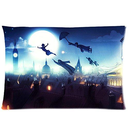 Custom Peter Pan rettangolo cuscino caso misura Standard 20x 30(un lato) cotone cuscino caso per stanze