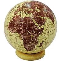 """Globo decorativo con stand in legno di forma rotonda 4 """"palla globo mappa del mondo beige casa decori interni articolo da regalo"""