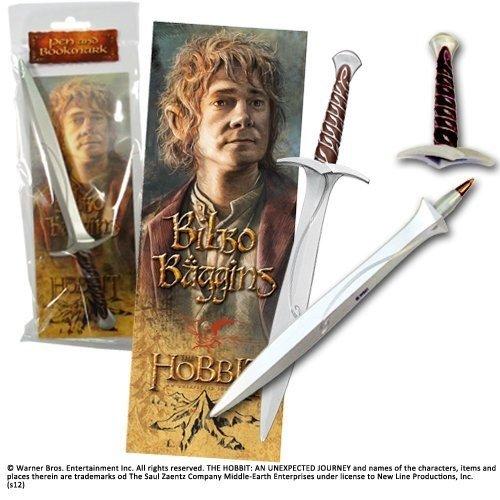 Der Hobbit - Eine unerwartete Reise, Bilbo Beutlins Schreibset, Schwert Stich - Stift mit 3D Lesezeichen