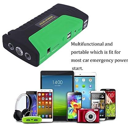 51jWytqDSYL. SS416  - cnmodle 400A pico 15000mAh Portable Car Jump Starter Emergencia Recargable Booster Pack Smart Power Bank con linterna de 3LED, Power Bank Batería Externa Dual USB cargador móvil para iphone, Samsung, iPad, Tablet, Sony, MP3/MP4y más