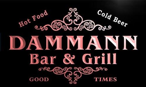 u10155-r DAMMANN Family Name Gift Bar & Grill Home Beer Neon Light Sign Enseigne Lumineuse