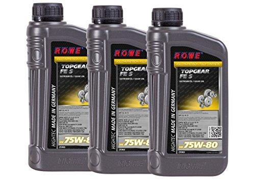3 x 1 litri ROWE HIGHTEC TOPGEAR FE SAE 75W-80 S