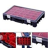 Sortimentskasten Organizer Kleinteilekoffer HD 600 mit Einsatzboxen Sortierbox Sortierkiste Sortierkasten Fachkasten Angelkiste Box Kiste Kasten Sortimentskoffer