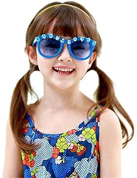 Bambini Ragazze Sport All'Aperto UV400 Rettangolari Occhiali Da Sole